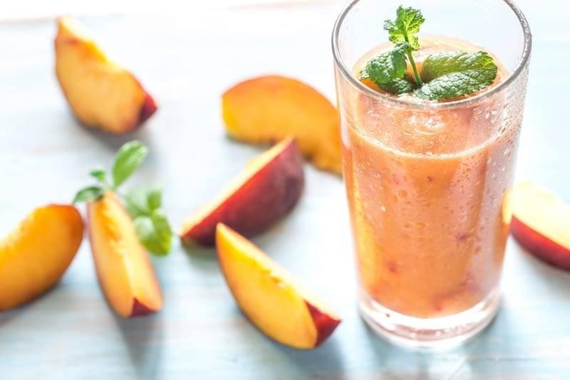 Peach Green Tea Smoothie