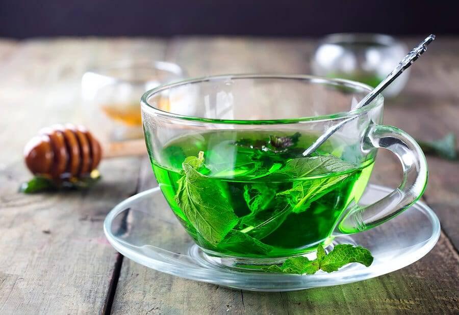 Peppermint Tea Glass Cup